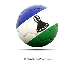 Football with flag of lesotho
