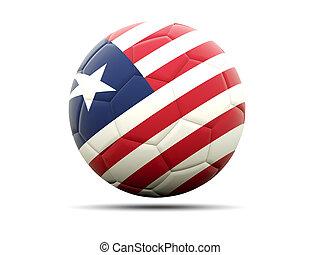 Football with flag of liberia
