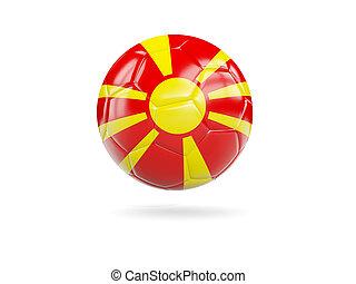 Football with flag of macedonia