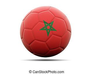 Football with flag of morocco