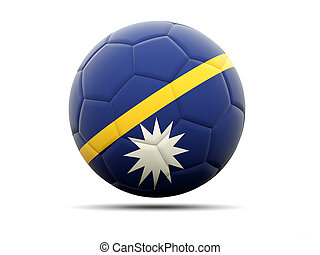 Football with flag of nauru