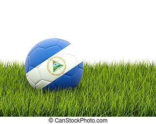 Football with flag of nicaragua