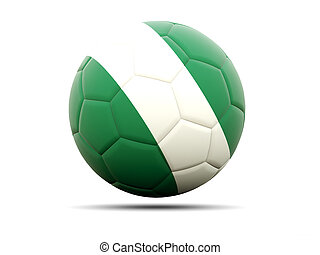 Football with flag of nigeria
