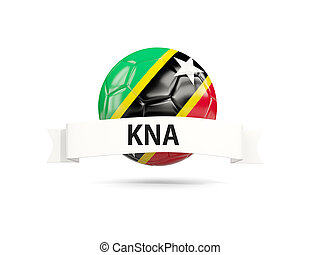 Football with flag of saint kitts and nevis