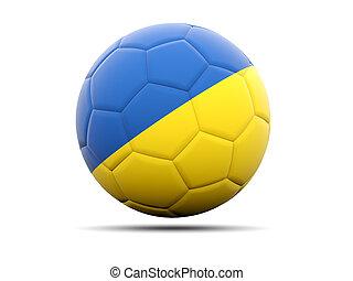 Football with flag of ukraine