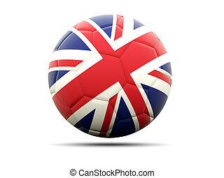 Football with flag of united kingdom