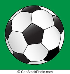 Football With Green Background