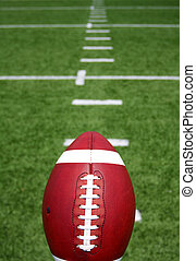 Football with Yard Lines Beyond