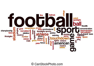 Football word cloud