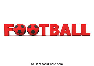 Football Word Red