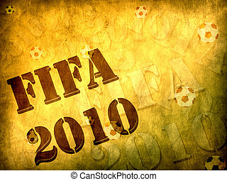 Football world cup 2010 concept