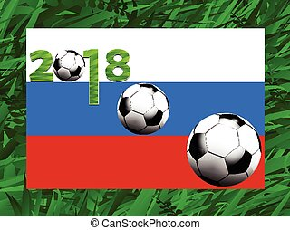 Football world cup 2018 background