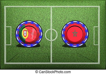Football, World Cup 2018, game Group B, Portugal - Morocco