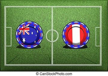 Football, World Cup 2018, Game Group C, Australia - Peru