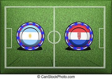 Football, World Cup 2018, Game Group D, Argentina - Croatia