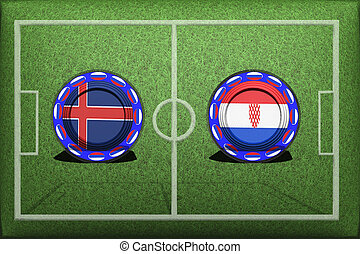 Football, World Cup 2018, Game Group D, Iceland - Croatia