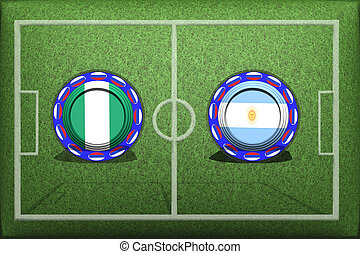 Football, World Cup 2018, Game Group D, Nigeria - Argentina