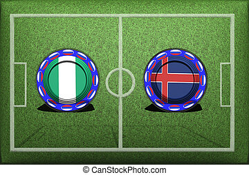 Football, World Cup 2018, Game Group D, Nigeria - Iceland