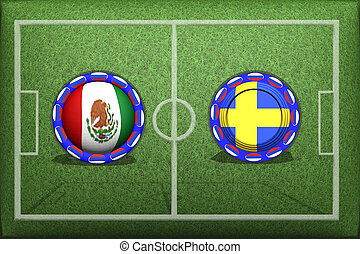 Football, World Cup 2018, Game Group F, Mexico Sweden