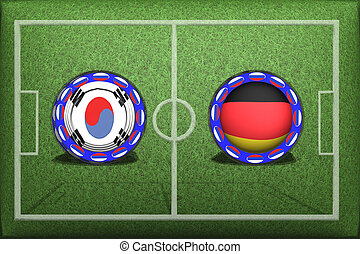 Football, World Cup 2018, Game Group F, South Korea Germany