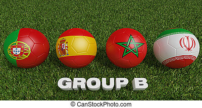 Football World cup  groups b.  2018 world soccer tournament  in Russia.