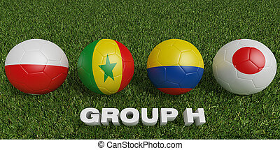 Football World cup  groups h.  2018 world soccer tournament  in Russia.