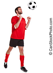 Footballer cut out on white - Photo of a footballer or ...