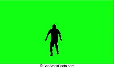 Footballer juggling the ball.