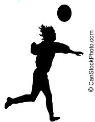 Footballer silhouette - Silhouette of a footballer isolated...