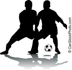 footballers, silueta
