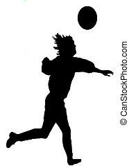 footballeur, silhouette