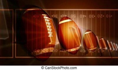 Footballs on Field