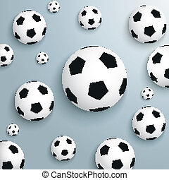 Footballs Silver Background