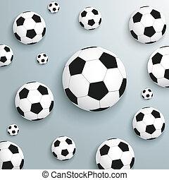 Footballs Silver Background