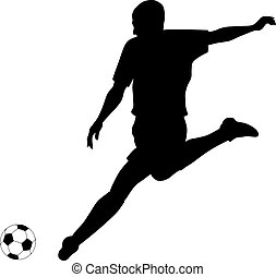 Football/Soccer - Abstract vector illustration of footbal ...