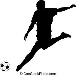 Football/Soccer - Abstract vector illustration of footbal...