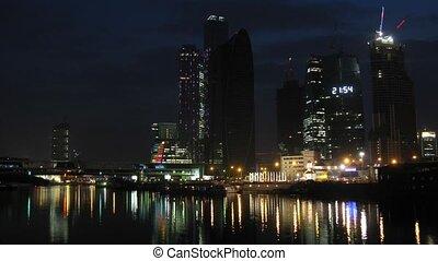 Footbridge across river near Moscow International Business...