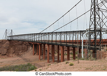 Footbridge and highway