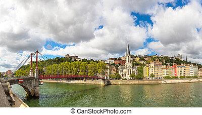 Footbridge in Lyon, France