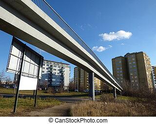 Footbridge in Prague, Czech Republic