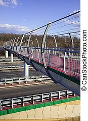 Footbridge on Motorway