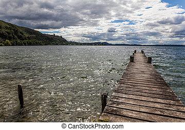 footbridge on the lake