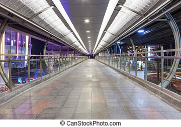 footbridge over highway