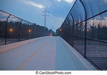 Footbridge over interstate