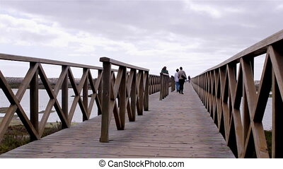 Footbridge over Ria Formosa