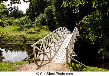 Footbridge over small creek