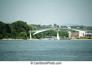 Footbridge over the Rhine