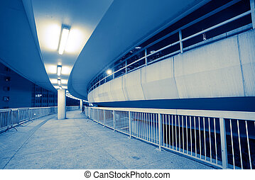 Footbridge - the footbridge in hongkong