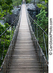 Footbridge - Suspended footbridge, Lookout Mountain, Georgia