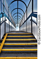 footbridge stairs pedestrian flyover - footbridge or...